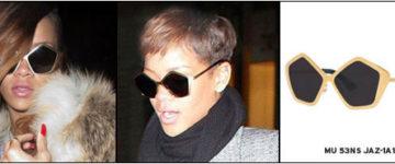 Rihanna nosi sunčane naočale Miu Miu MU 53NS JAZ-1A1