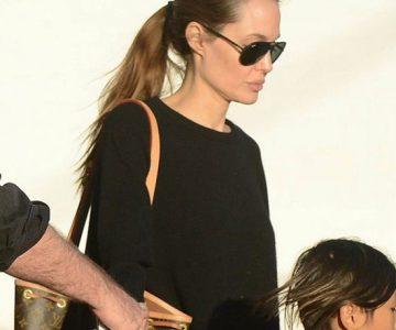 Angelina Jolie nosi sunčane naočale Ray Ban RB4180 601571