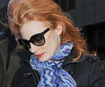 Jessica Chastain nosi sunčane naočale Prada PR 230S 1AB – 3M1