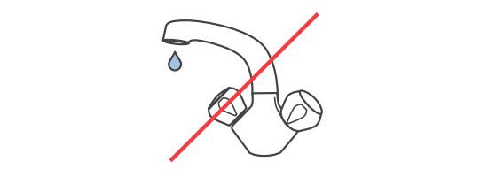 Nikada ne perite svoje leće ili spremnik za leće vodom iz vodovoda.