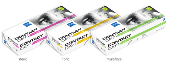 Zeiss Contact Day 1 dnevne lece sferic, toric, multifokal